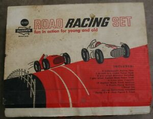 Vintage Eldon Sears Allstate Auto Road Racing Set Original Box Cars Track More