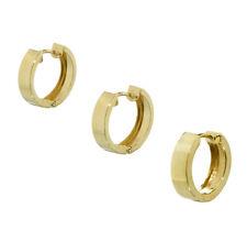 Single klassische 333er Gelbgold Klappcreolen Ohrringe glänzend Damen Herren