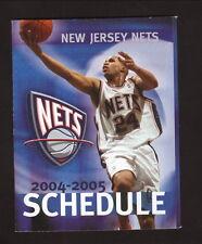 New Jersey Nets--Richard Jefferson--2004-05 Pocket Schedule--McDonald's