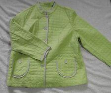 Sigrid Olsen Plus Size Quilted Jacket Designer Light Weight Neon Green EUC