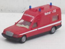 """Mercedes-Benz Binz 2001 Krankenwagen Feuerwehr """"Notruf 112"""", o.OVP, Wiking, 1:87"""