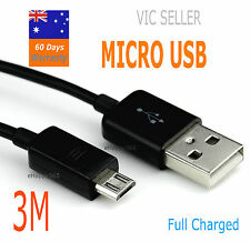 3M Extra Long MICRO USB Data  Charger Cable For Samsung Galaxy S2  S4 S5 & HTC
