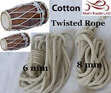 100% Cotton ROPE cord Tension String for DHOLAK DRUM DHOLKI DHOL Bhangra Bhajan