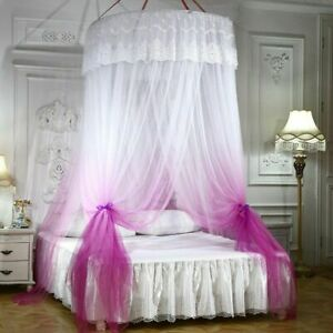 Dome Mosquito Net Court Floor Ceiling  Net Gradient Lace Bed Curtain Bed Valance