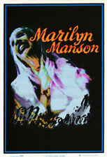 2 POSTERS:MUSIC: MARILYN MANSON -THE BRIDE- BLACKLIGHT & FLOCKED  #1724F  RP65 F