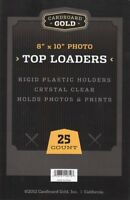 50 8x10 Ultra CBG Premium Pro Hard Rigid Toploaders Photo Topload Holders - New