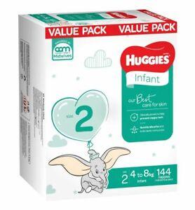 Huggies Nappies Mega Infant Size 2 144 Pack