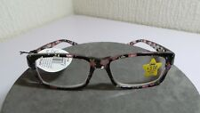 NEW BLACK PINK FLORAL PATTERN READING GLASSES READERS FRAME CORAL CALAIS +3