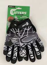 New Cutters padded gloves receive & all purpose black grip football Youth L