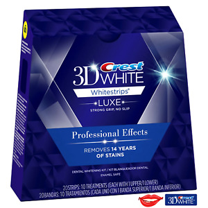 Crest 3D White LUXE Whitestrips Professional Effects 20 Strips 10 Treatments