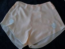 """VINTAGE 30's SILK EMBROIDERED LINGERIE TAP PANTIES  """"YOLANDE"""" Hand Made"""
