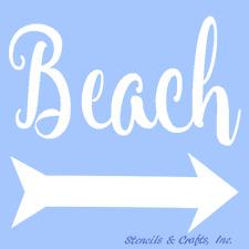 BEACH STENCIL NAUTICAL STENCILS OCEAN ARROW TEMPLATE CRAFT MARINE ART PAINT NEW