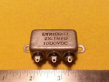 Cornell Dubilier Paper in Oil Capacitor 2X .1MFD 1000VDC DYR100I1J