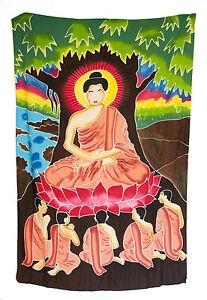 Batik Buddha Mural Hanging Of Buddha Cotton Handmade 66 7/8x41 5/16in 6810 U