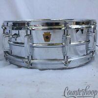 "Ludwig Supraphonic 14x5""Snare Drum COB Brass Rims USA Vintage 60s Keystone Badge"
