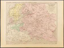 1859. Russia, Polonia, Svezia, Norvegia, Danimarca. Carta antica di Houze