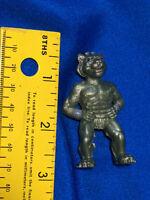 Vintage Monster Figure CH Hong Kong no. 8527 Silver Lion Cat Man Rare Toy VTG
