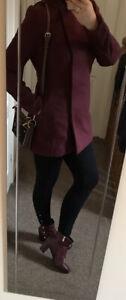 Atmosphere Womens Burgundy Trendy Coat Uk 12 M