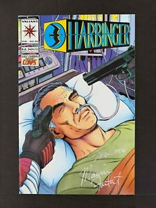 HARBINGER #30  VALIANT COMICS 1994 NM+  SIGNED 2X BY MAURICE FONTENOT & SEAN CHE