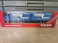 (Box K5) Herpa 144445 LKW H0 1:87 MB Hängerzug Spedition Rosner OVP