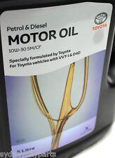 TOYOTA ENGINE MOTOR OIL 5L BOTTLE NEW GENUINE 10W-30 SM/CF PETROL DIESEL