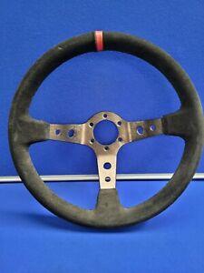 Dished Steering Wheel Suede 3 Spoke