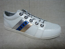 ROBIN'S JEAN - MADDOX - Men's Shoes, Sneakers - White Leather - Size 12 M
