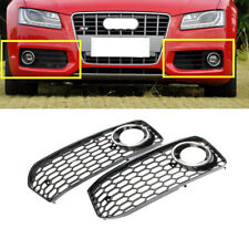 Fit For AUDI S5 S Line 2008-2011 Front Fog Light Chrome Honeycomb Grille Cover