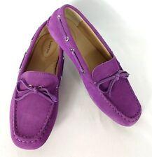 b86a3b32d13 Lands End Shoes Size 6 M Suede Purple Moccasin Flats