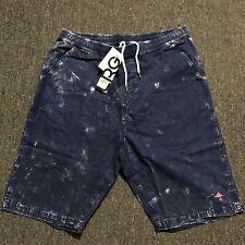 LRG Clothing Men Shorts Blue Dye Style (Pant Size 36) Blue