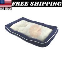 Pet Bed Cozy Cushion Sheep Fur Pad Dog Cat Kennel Crate Soft Mat 36 x 23 x 3