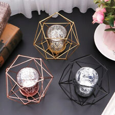 Nordic 3D Geometric Candle Holder Wedding Candlestick Tealight Holder, Rose Gold