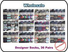 36 Pairs Men Gents Designer Suit Casual Formal Summer Holiday Socks Wholesale