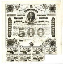 1863  $500  Confederate Bond.