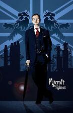 "Sherlock | Mycroft | Fan Art | 17 X 11"" Digital Print | Mark Gatiss"