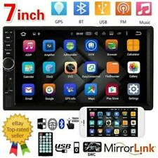 """7"""" Double 2 DIN Car Stereo Radio MP5 Bluetooth Touch Screen USB AUX Mirror Link"""