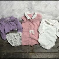 JANIE and JACK Infant Girls Lot 0-3 (4 pieces )