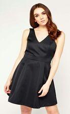 MISS SELFRIDGE BLACK BOW BACK PROM DRESS Size 14 BNWT RRP £55!