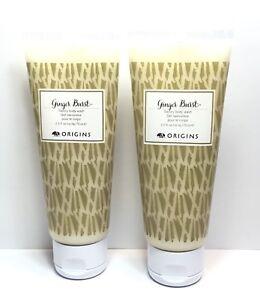 Lot 2 New! Origins Ginger Burst Savory Body Wash 2.5oz / 75 ml Each, Total 150ml