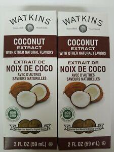 (2 Pack) Watkins Coconut Extract 2oz, Noix De Coco, expiration 01/2024