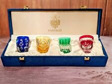 Faberge Colored Crystal Shot Glasses