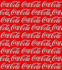 "Coca Cola Coke Fabric Cotton Craft Quilting Licensed Piece 22"" x 11"""