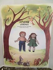 """1983 Foster Children 22"""" Doll Clothes Sewing PATTERN Jeans Dundress Panties Elf"""
