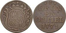 Duit 1771 Niederlande Groningen & Ommelanden, Krone #AXP200