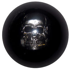 Chrome Skull Black Shift Knob 3/8-16 thread U.S. Made