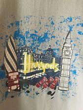 Vintage Harrods Department Store London England Icons Souvenir Tee Shirt M