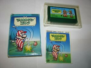 Mario Open Golf Famicom NES Japan import boxed + manual US Seller