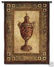 "Vessel of Antiquity I Ornamental Wall Tapestry Urn Vase 52""x65"""