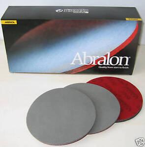 "Abralon 6"" Bowling Ball Sanding Pads 3 Pack CHOOSE GRITS"