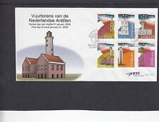 Netherlands Antilles 2008 Lighthouses First Day Cover FDC